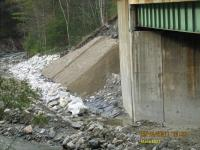 Bridge abutment being repaired