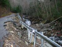 Black Brook road falls