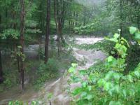 Clesson Brook in flood
