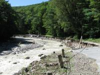 Route 8A damage, Chickley River