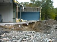 Hawley town garage damaged by Hurricane Irene