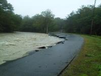 Rt 8A breaking up during Hurricane Irene