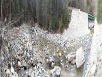 Panoramic view bridge damage