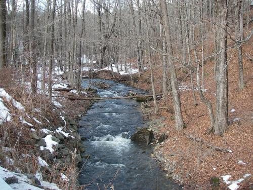 South River tributary, Creamery Road looking upstream