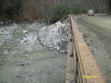 Route 2 bridge under repair, November 2011