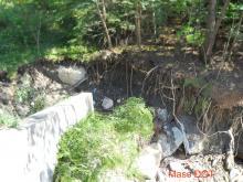 Route 2 bridge damage - southeast corner