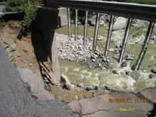 Cold River bridge damage after Irene