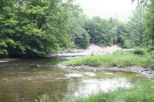 Eddy and sediment bar, Deerfield River